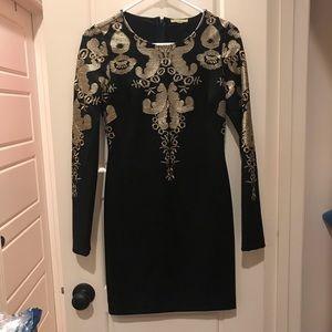Gianni Bini Black and Gold Dress